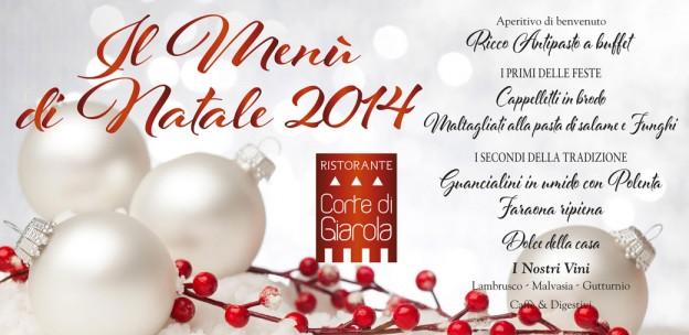 Il Menù di Natale 2014